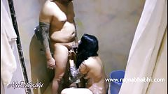 Indian Mona Bhabhi Blowjob In Shower