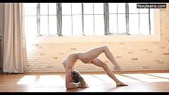 18 y.o Emma Jomel. Professional beautiful gymnasts in front