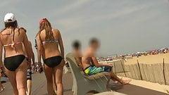 Teen in Bikini With Odd But Sexy Walk (Graz 18)