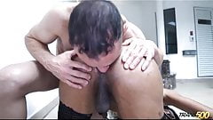 Hot Latin booty TGirl fucked by lucky white boy