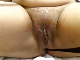 friends celebrating overflowed cum on my Indian Wife Shree