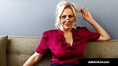 Bad Teacher Milf Julia Ann Shows You POV Naughty Pussy Rubs!