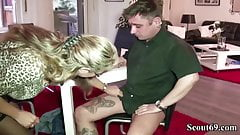 GERMAN MOM SEDUCE YOUNG BOY WORKER TO FUCK
