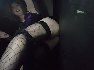 Glory Hole Sucking Cock and Ass Fucking with Essex Girl Lisa