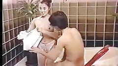 Bathhouse scene from vintage Asian Film