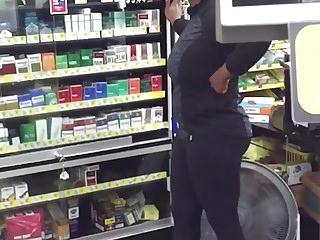 Dollar Store Worker Juicy Spandex Booty