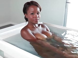 Shy Ebony Teen Bathes Before First Ever Porn Shoot
