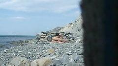 Beach blow job and fuck hidden cam