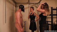Double Ballbusting Fun - Girls know how to relax