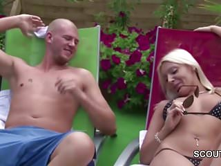 German Hot MILF Seduce Young Boy To Fuck at Pool
