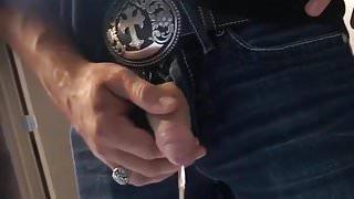 Caught - Guy Pissing (beautiful uncut cock)