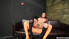 Sexy tranny Jessy Dubai take in hardcore super cock