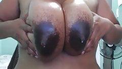 big ebony lactating moms