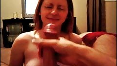 Cute Girlfriend Takes with Smile Huge Facial Cumshot