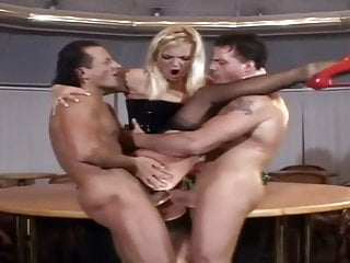Hot Blonde Milf Fucks Two Guys