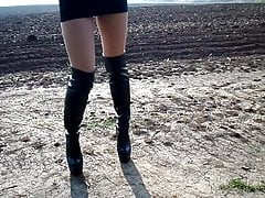 Walking and running in high heels in a mini skirt 's Thumb
