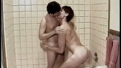 Stroke n' blow club: two men in the shower