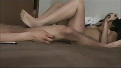 Latina gives me a footjob