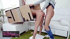 Sandra Wellness - Makeshift Cardboard Gloryhole - Twistys