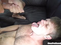 Anally pounded bear getting facialized
