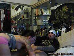 I am Pierced and tattooed couple steamy sex life