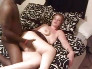 White woman threesome with two black men