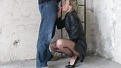 German Fantastci Blow Part 2 leather coat heels
