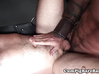 Preview 5 of Silver wolf drills muscular studs ass