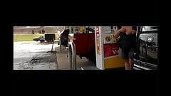 Flashing at local gas stations for my hubby and all to see