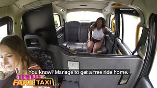 Female Fake Taxi Busty ebony stripper wants pussy licked
