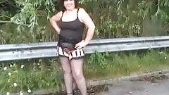 Linda removes her skirt