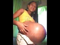 Huge pregnant belly