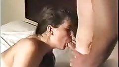 Slut Wife Tina gangbanged and Husband films.