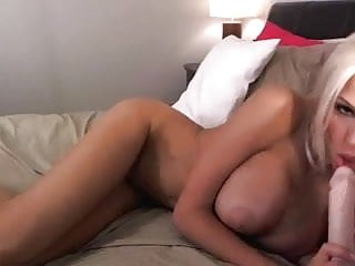 Busty Blonde Plays & Toys On Cam