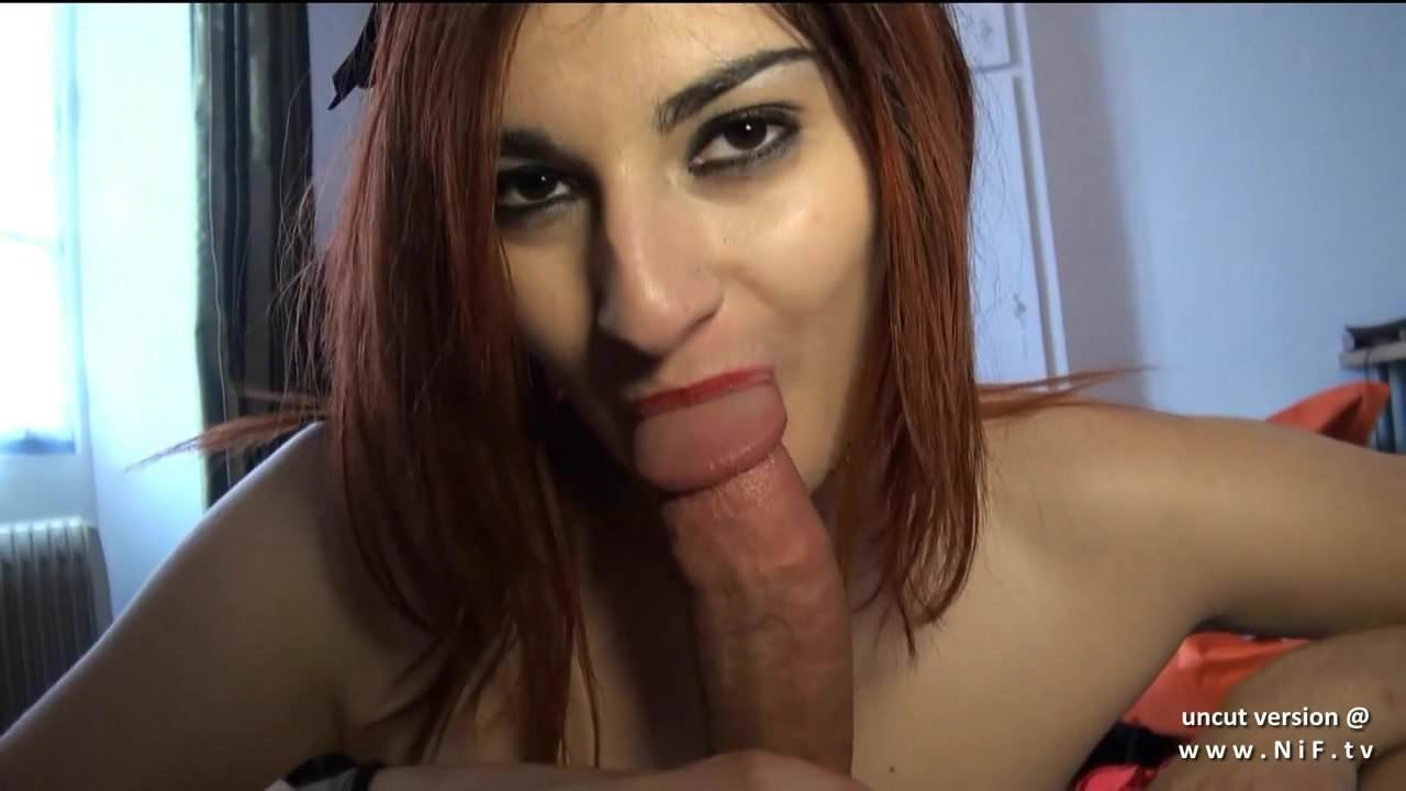 Pretty big titted french redhead analyzed w cum 2 mouth POV