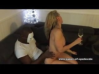 Hotwife naked gets fingered in our home by her BBC