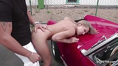 Petite Whore Fuck Outdoor by Stranger for Money in Germany's Thumb