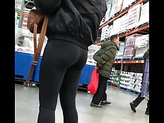 Asian Teen Spandex Butt