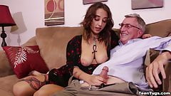 Jerking off the old man
