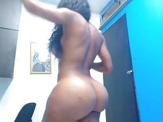 Thick Columbian ts nice ass n cock