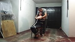 Chairtied slave let loose