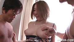 Alice Ozawa sandwiched between to hard cocks