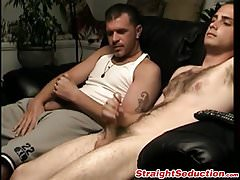 Cute butt pirate shows his big fat cock and starts wanking