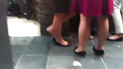 Candid Irish Teen Dipping in Flats 19yo Feet SHoeplay
