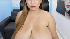Latina with Huge Natural Tits on Webcam