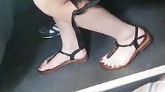 Hot brunette Teen feet