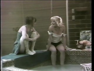Lucky Guy Stumbles Upon Ponytailed Teen Lesbians Licking By The Spa
