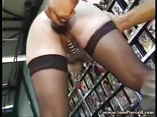 I am pierced Mature slave BDSM heavy pussy piercings