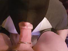 Faggot sucking tranny Tammy's big mistress cock