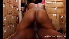 Ebony babe getting the right treatment